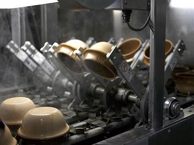 リサイクル釜の洗浄